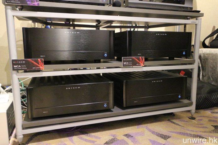 而後級則包括 1 部 Anthem MCA325,負責驅動前置及中置,而 3 部 MCA525 則負責其他聲道。