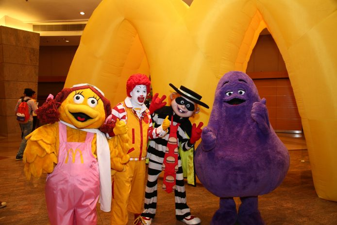 Ronald McDonald's and friends