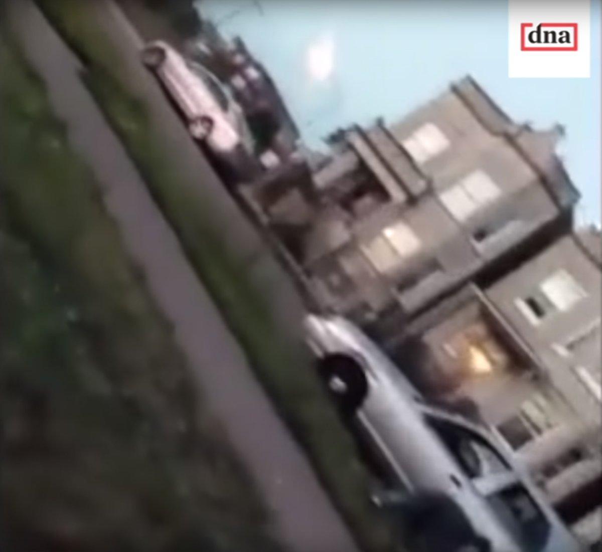 事發後鏡頭錄到正逃之夭夭的汽車