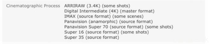 以剛推出 4K UHD BD 的《蝙蝠俠對超人:正義曙光》為例,IMDb 就指該電影的母帶格式為原生 4K。