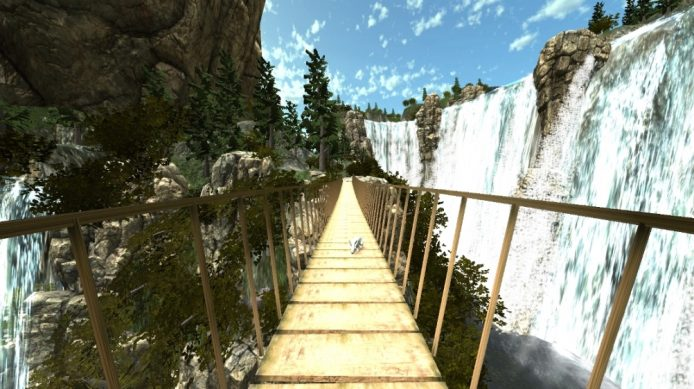 9. VR waterfall