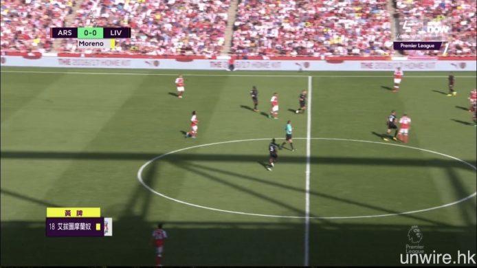 入球或被黃牌警告的球員,在週日已有中文資訊顯示。