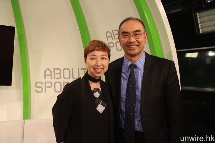 記招完結之後,NowTV 市務及策劃主管何文嘉(Clare,左)及產品管理副總裁黃康(Keith,右)分享 NowTV 及 Now 隨身睇傳送技術詳情。