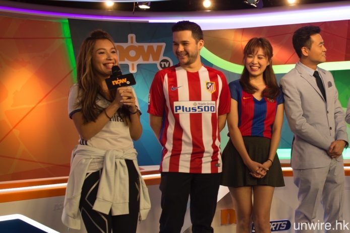 NowTV 將為新一季西甲製作賽前環節,將由西班牙裔主持甄珮娸(左)及盧民傑(中),聯同在主持歐洲國家盃 2016 中受到不少球迷留意的張嘉殷(右)負責主持。