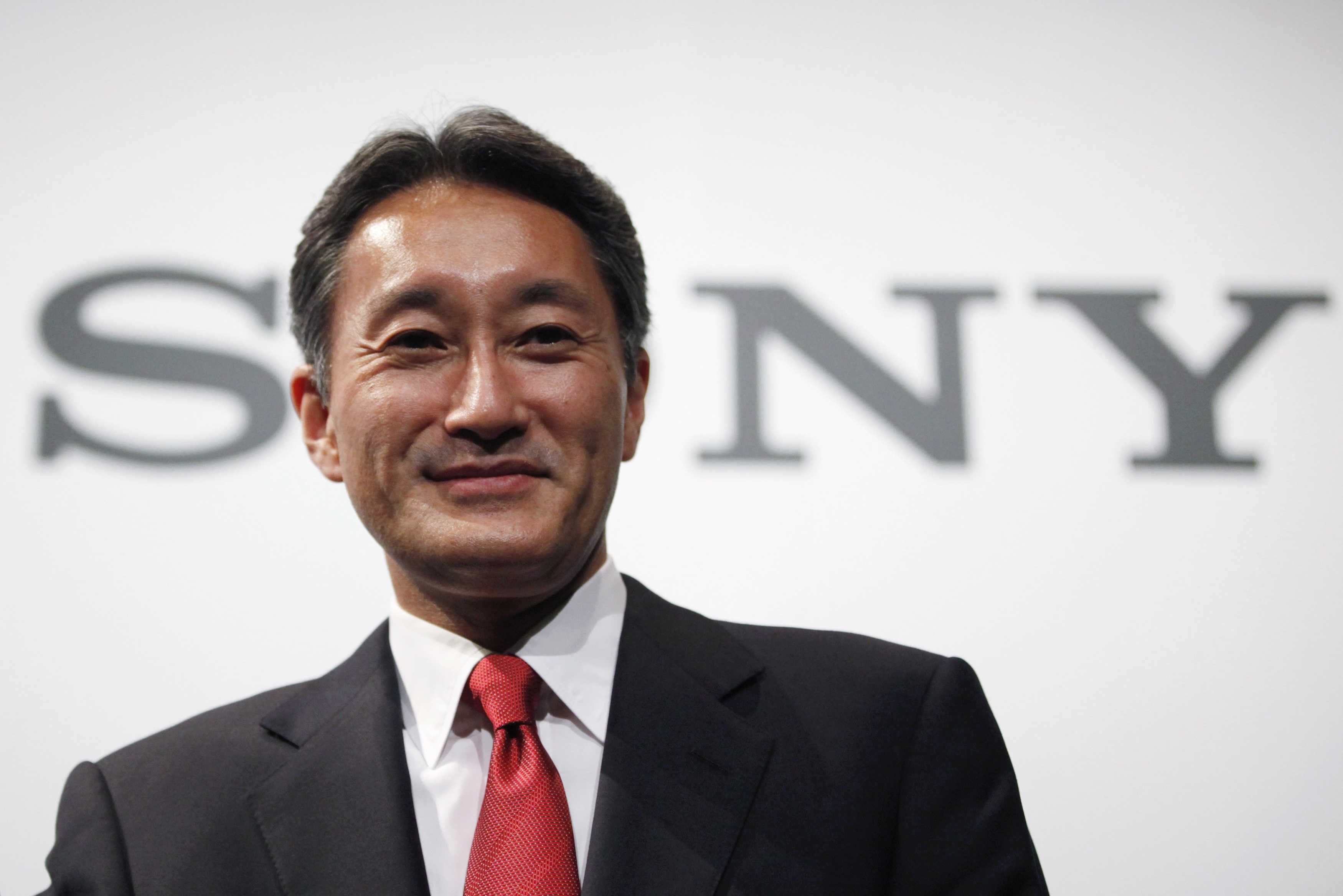 Sony Corp's Chief Executive Officer Hirai attends a news conference at the company's headquarters in Tokyo