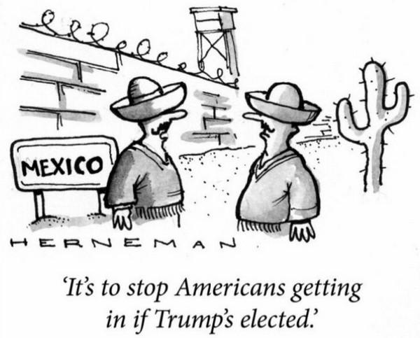 反而變成墨西哥人需要在邊境興建圍牆去防止美國人湧入……