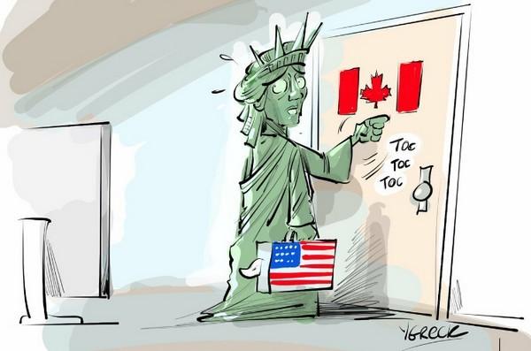 唔止美國市民,連自由神像都要叩門移民加拿大!