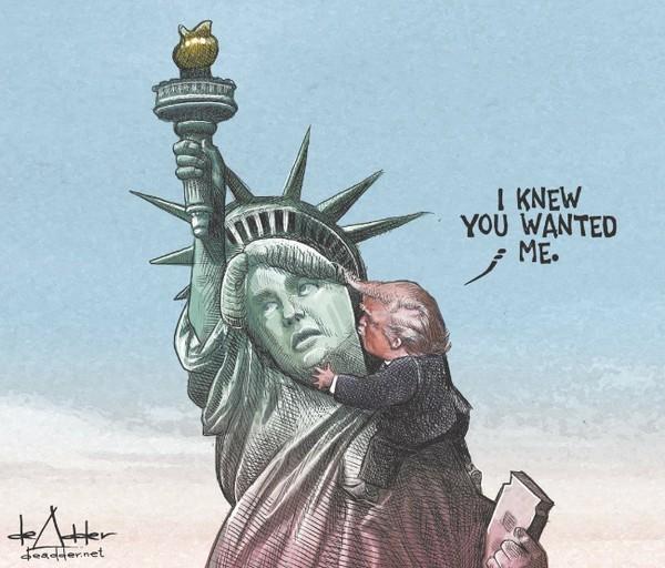 自由神像:「死開啦!咪鍚埋嚟!」