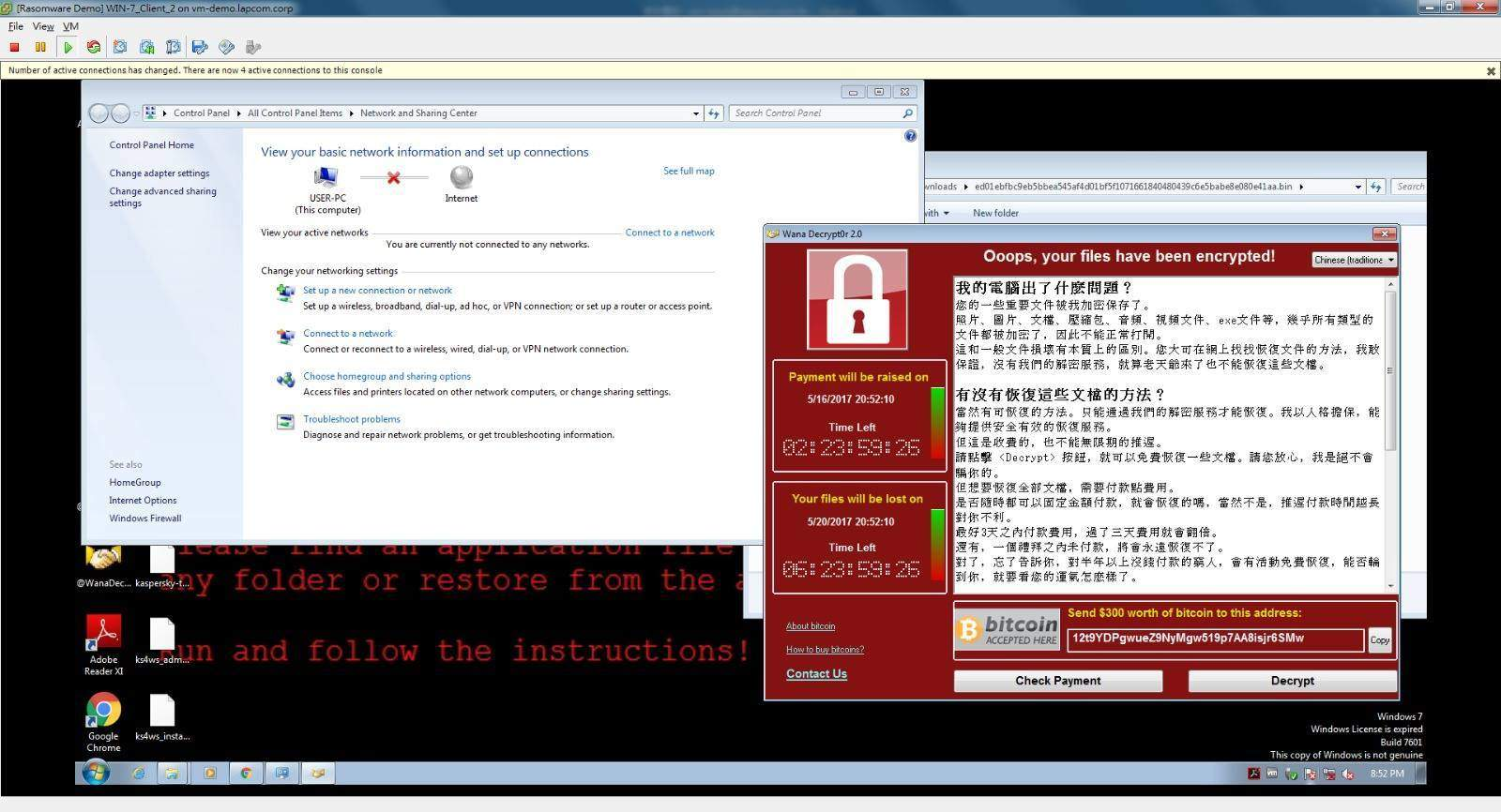 Wanna Decrytor / WannaCry / Wcry 勒索病毒影響全球 : Windows 香港受害者上升中 (附:預防 刪除 修復方法)