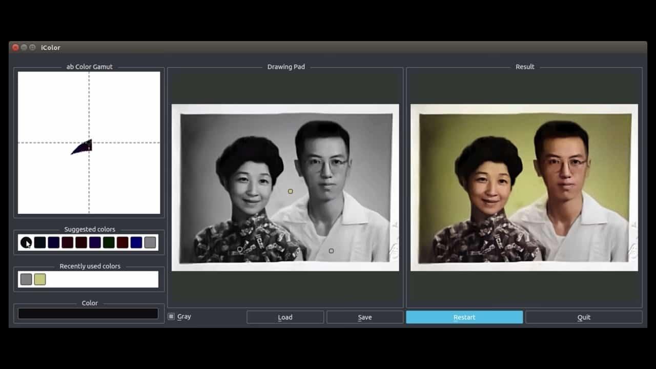 神經網絡新功能 舊黑白相片自動變彩色