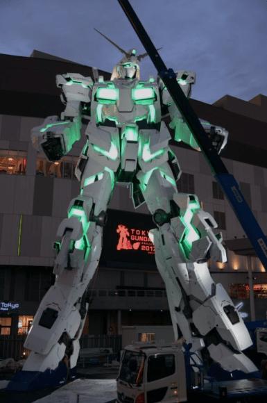 日本台場獨角獸高達1:1 Unicorn Gundam 晚間燈光Show時間表全公開