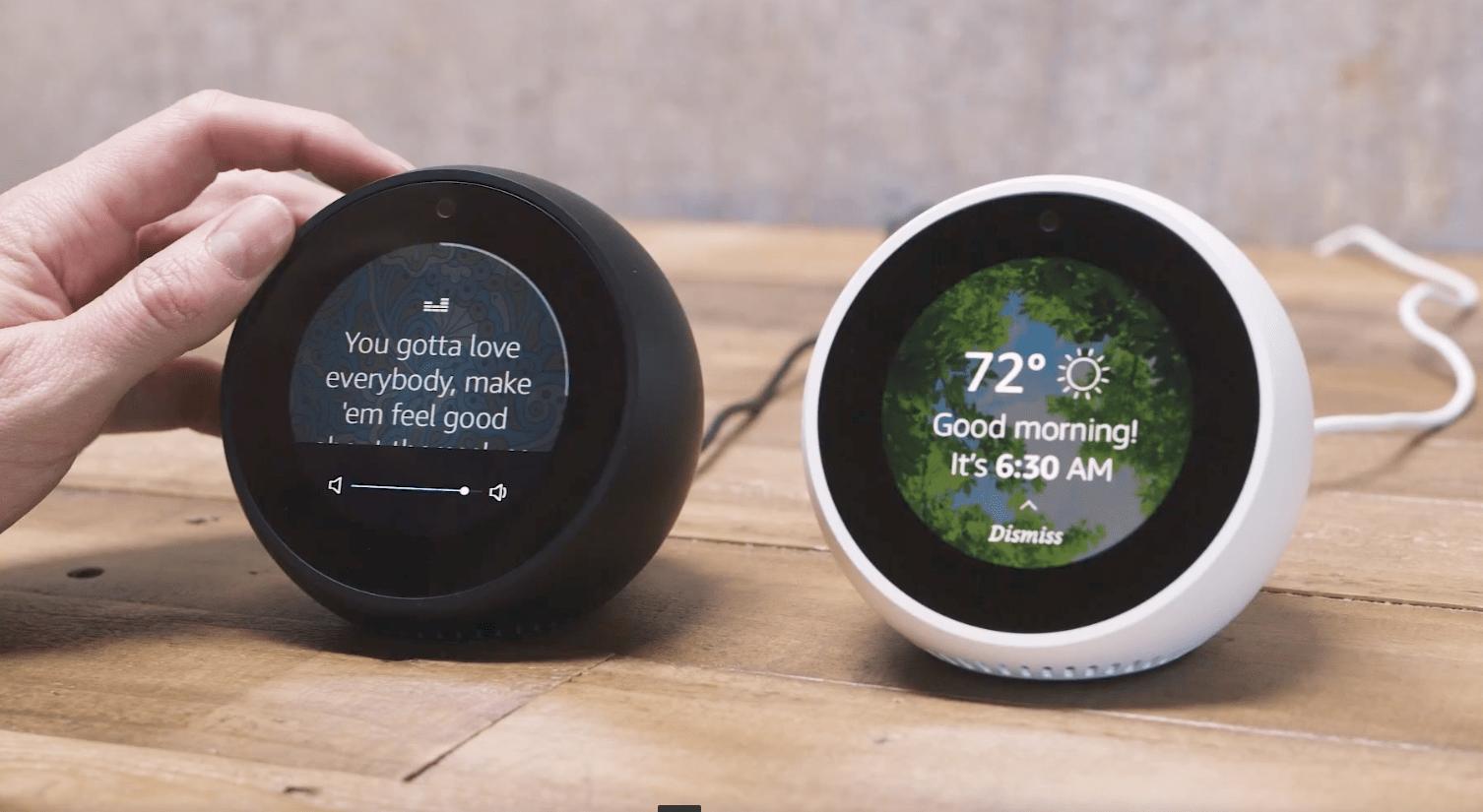 Amazon 全新智能鬧鐘 Echo Spot 傳統鬧鐘設計+2.5吋圓形熒幕