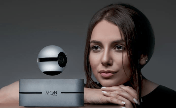 「Moon by 1-Ring」世界首個磁力懸浮 IP Cam 360度順滑鏡頭旋轉