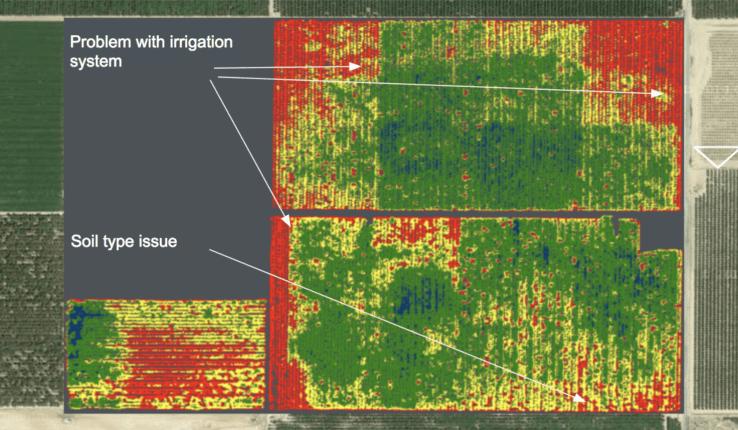 高光譜相機+機械學習 AI 分析農地  農民可知缺水缺養份位置