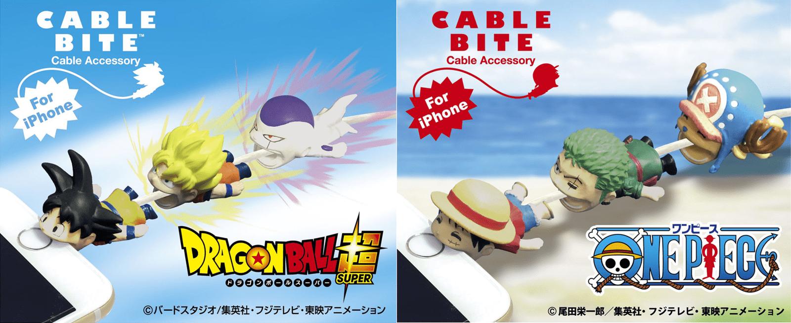 Cable Bite 咬咬 iPhone 線護套 龍珠 X 海賊王 X 銀魂