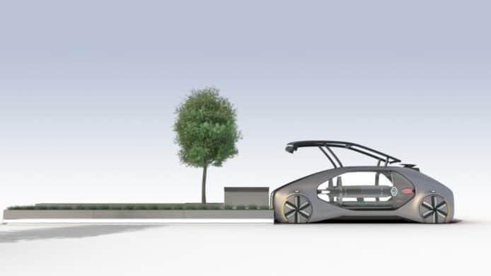 雷诺推共乘电动概念车,全自动漫游城市