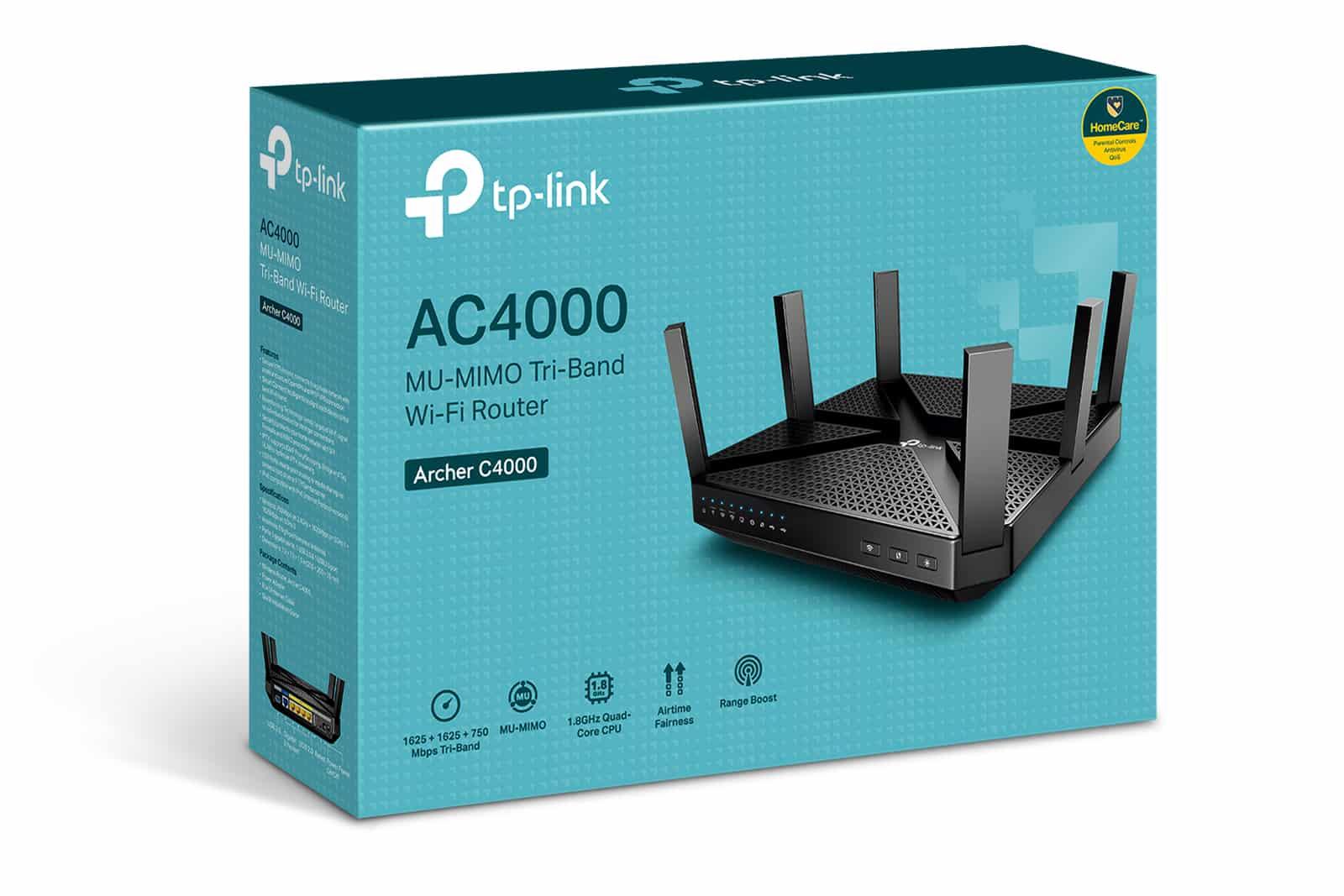 TP-Link® представляет ArcherC4000 – новый трёхдиапазонный  Wi-Fi роутер из премиум линейки для дома