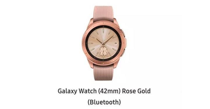 Samsung 官網意外流出 新 Galaxy Watch 外觀細節