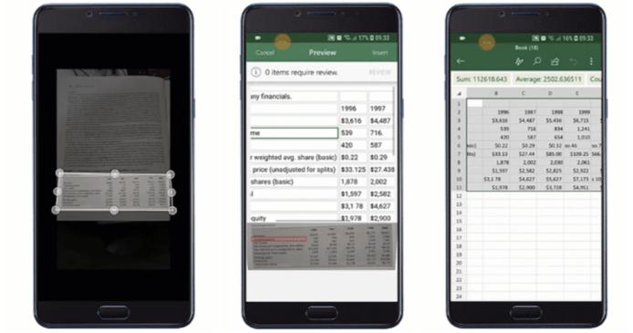 Microsoft Excel 將加入相片轉數據表功能 一拍即製毋須逐格入資料!