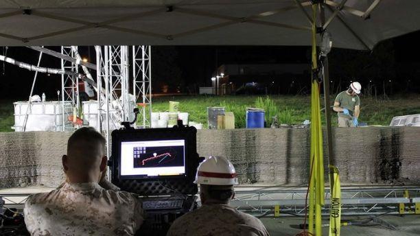 24小时内完成!美海军陆战队 3D 打印混凝土建筑物