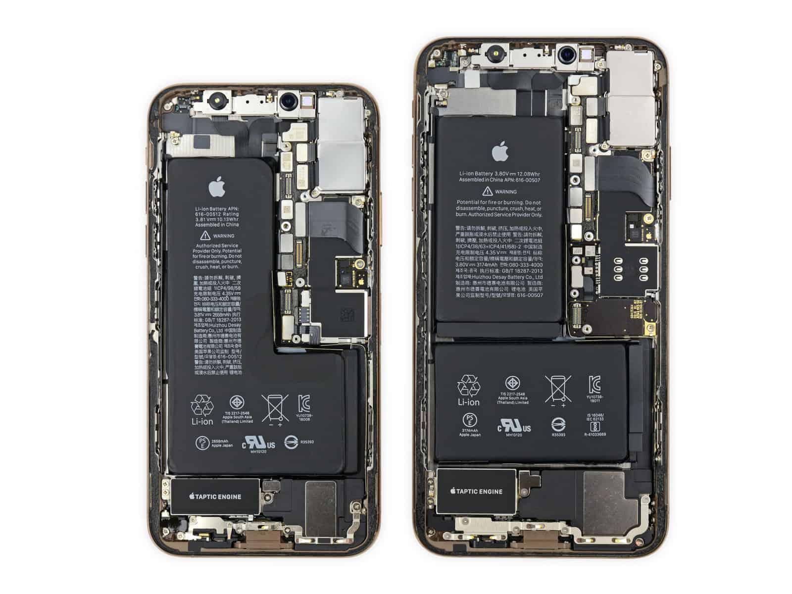 iPhone XS/XS Max 拆解:XS 電池用真 L 字形設計 機底玻璃跌破後仍要整部更換