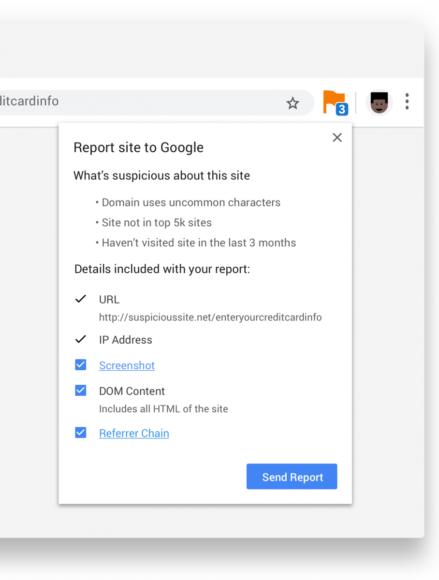 Google 推新 Chrome 外挂 更快速回报可疑网站