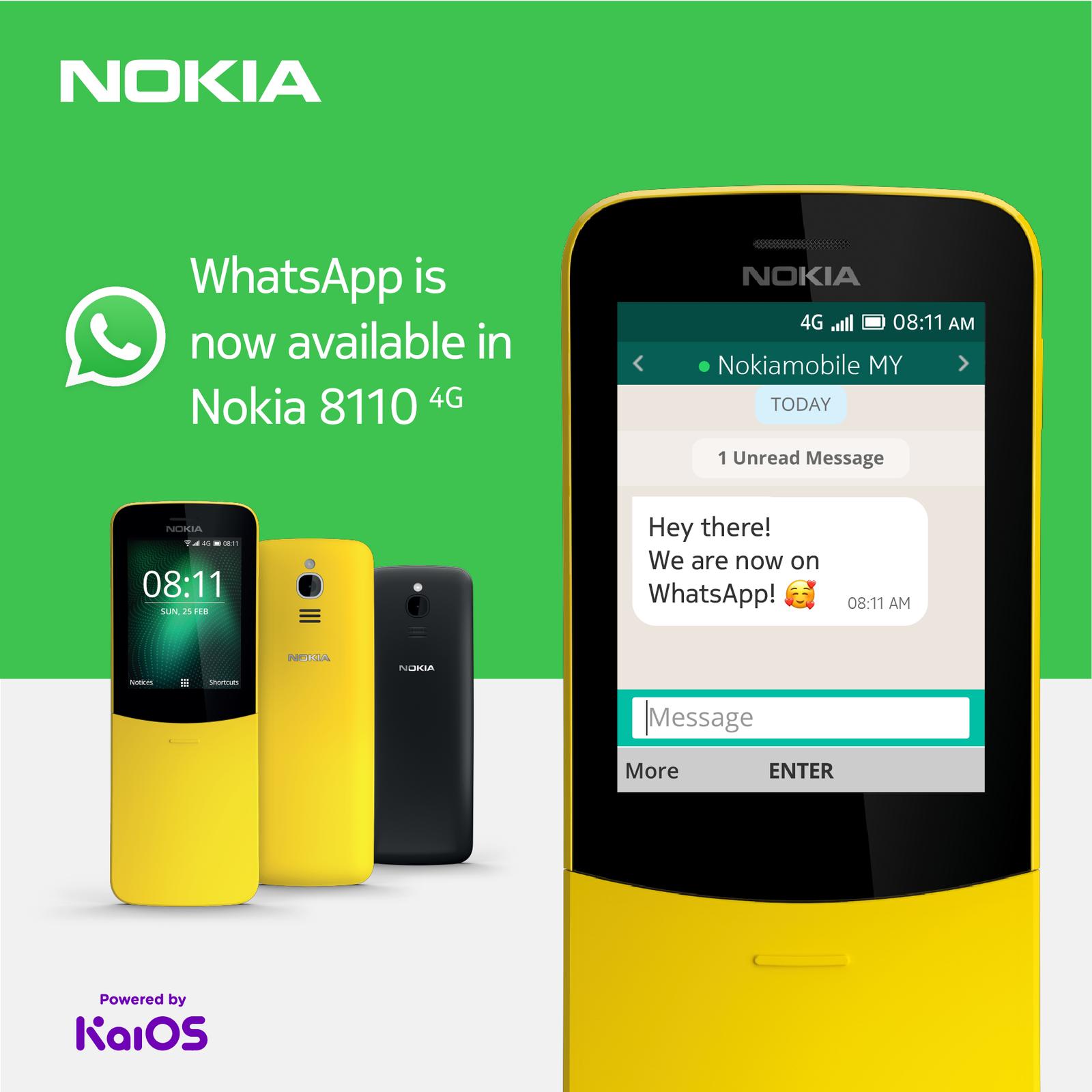 Nokia 8110 4g Whatsapp