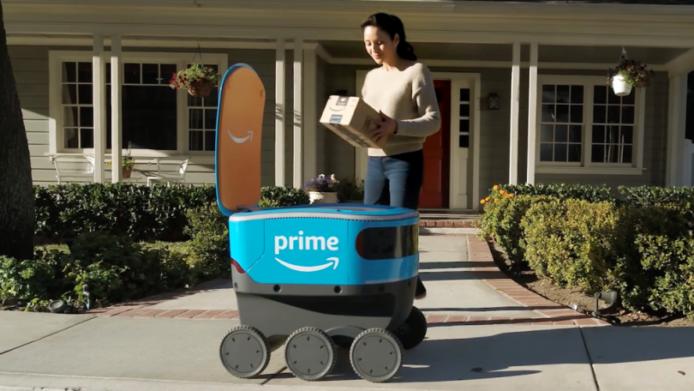 Amazon机器人送货 美国再多一区可以使用机器人送货