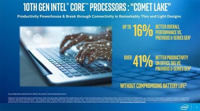 Intel 第 10 代 Comet Lake 处理器 14nm制程 + 6核心12线程